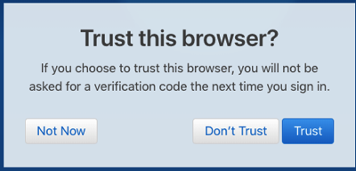 Trust this browser chrome
